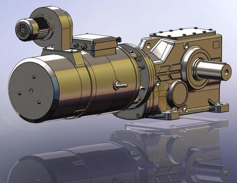 мотор-редуктор для низких скоростей с независимой вентиляцией